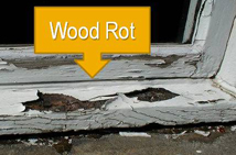 Wood Rot from Water Leaks