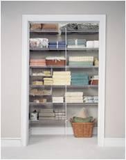 linen closets for storage